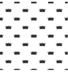 jewelry crown pattern vector image