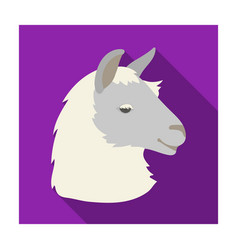 lama icon in flat style isolated on white vector image