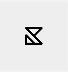Letter k ak ka r monogram logo design minimal icon vector
