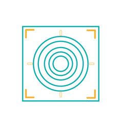 Line gun sight circle with shooting focus vector