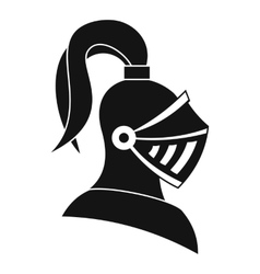 Medieval helmet icon simple style vector