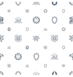 merry icons pattern seamless white background vector image