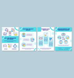 Messaging software brochure template vector