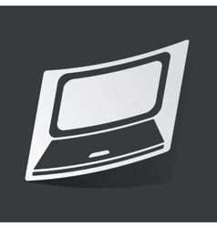 Monochrome laptop sticker vector