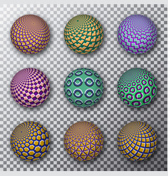 Motley rotating balls on a transparent background vector