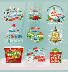 New year 2018 and christmas items for winter vector