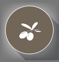 olives sign white icon on vector image