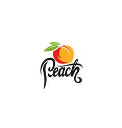 peach orange text logo vector image