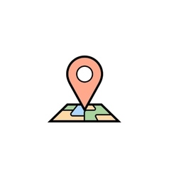 Pin map icon vector