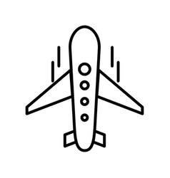 plane line black icon vector image