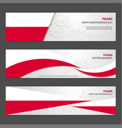 Poland independence day abstract background vector
