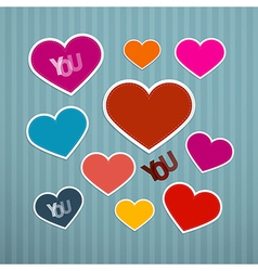 Retro hearts background vector
