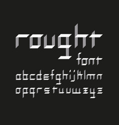 rought lowercase font alphabet vector image