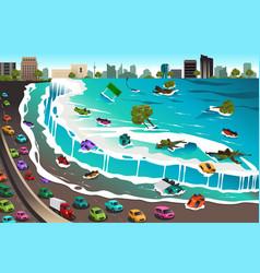 Scene tsunami vector
