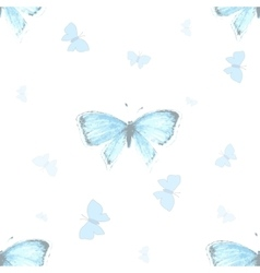 Seamless pattern with blue copper-butterfly vector