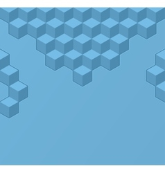 Simple geometric background with cubes vector