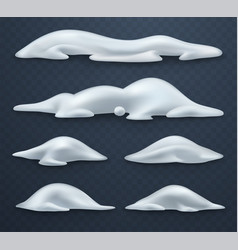 snow hills snowball and snowdrifts realistic snow vector image