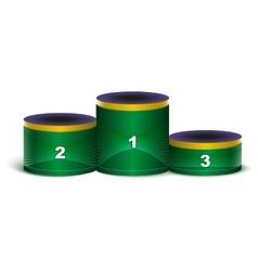 Sport podium in colors of Brazilian flag vector