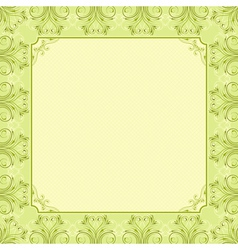 square green background with decorative ornate vector image