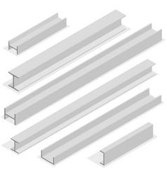 Steel beam isometric vector