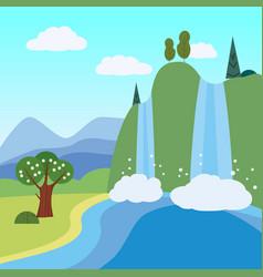Summer landscape june month season banner vector