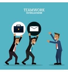 Teamwork support avatar design vector