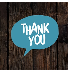 thank you word on wooden texture vector image