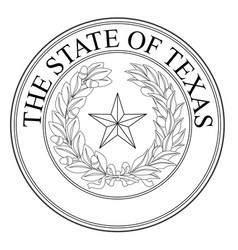 The state of texas seal vector
