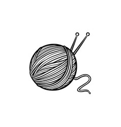 thread with spokes hand drawn sketch icon vector image