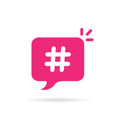 trendy bubble with hashtag logo vector image