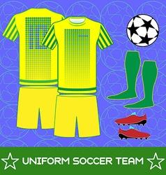Uniform Soccer Team Sportswear Template vector