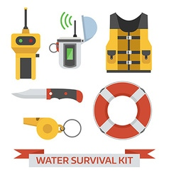 Water emergency surival kit vector