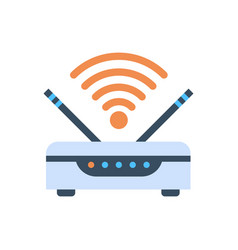 Wifi router wireless internet connection icon vector
