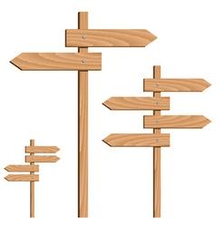 Wooden direction arrows vector