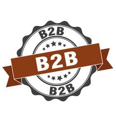 B2b stamp sign seal vector