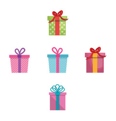 happy birthday card with giftbox vector image