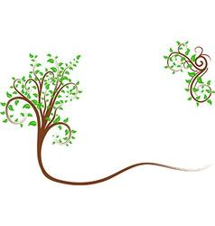 Swirl tree vector image