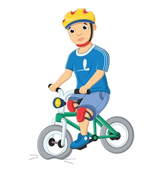 Boy and Destroyed Bicycle vector image