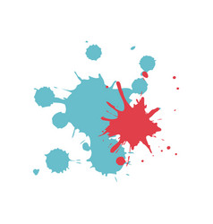 colored splashes in abstract shape design vector image