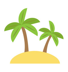 island flat icon travel and tourism palm trees vector image