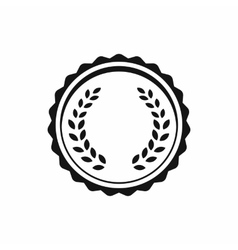 Medal with laurel wreath icon simple style vector image