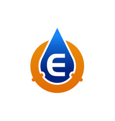 oil water pipe solutions letter e vector image