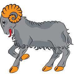 sheep farm animal vector image