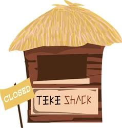 Tiki Shack Closed vector image