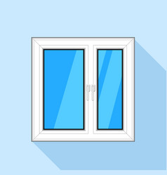 white plastic window with glass icon flat style vector image vector image