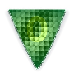 Bunting flag number 0 vector image