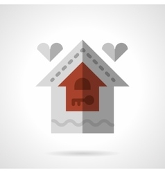 Family house flat color icon vector image vector image
