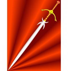 knightly sword vector image
