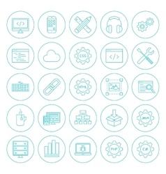 Line Circle Programming Icons vector image
