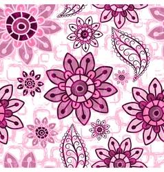 Pink floral seamless grunge pattern vector image vector image